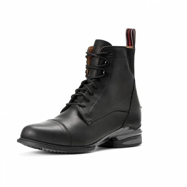 ARIAT 女短筒皮靴 (第二代/鞋帶設計/黑色)