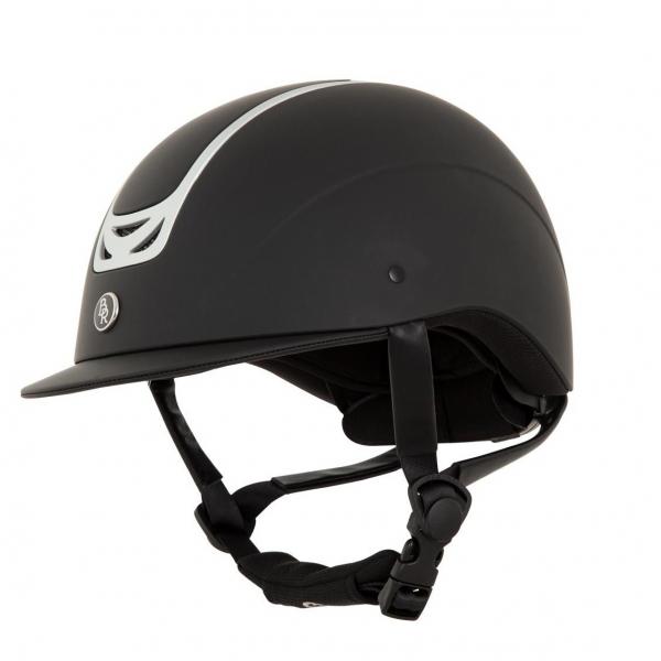 透氣騎士帽 (可調式/黑色/L/58-60cm)