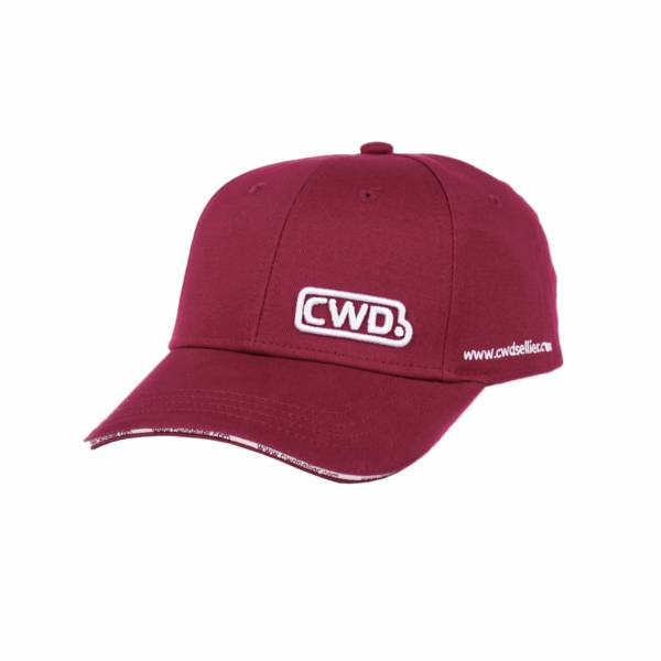 CWD 鴨舌帽 (CWD字樣/酒紅色)