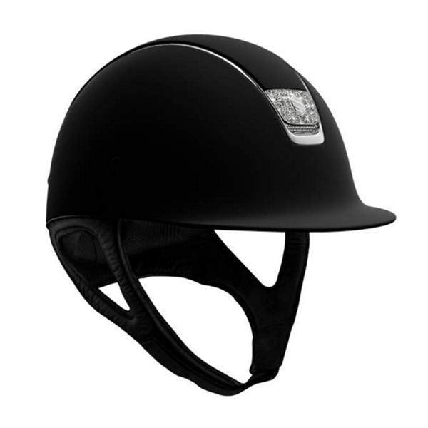 SAMSHIELD 訂製款騎士帽 (霧黑/銀框/水晶盾牌/S/M/L) 不含帽襯,需另外加購