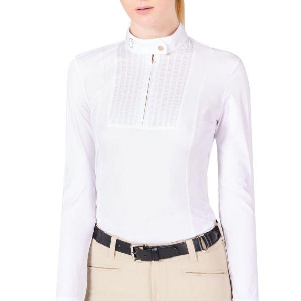 VESTRUM 女用比賽衫 (長袖/白色/S/XS)