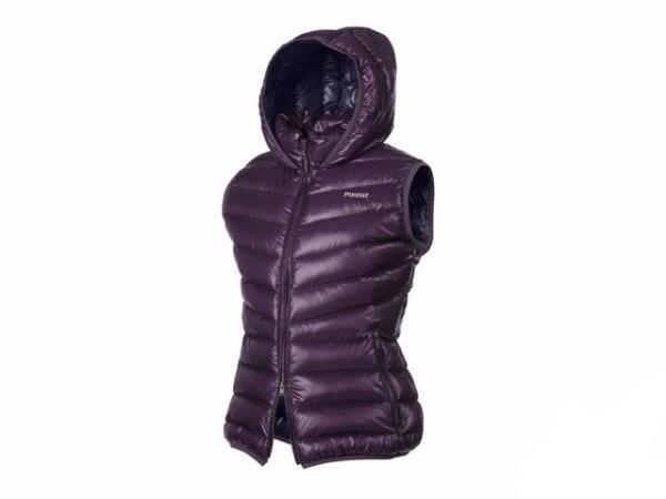 PIKEUR 女用輕保暖連帽背心 (40號/紫色/羽絨)