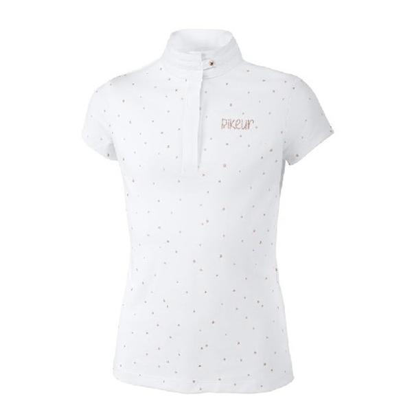 PIKEUR 女童用比賽衫 (玫瑰金蔥點綴/164/白色)