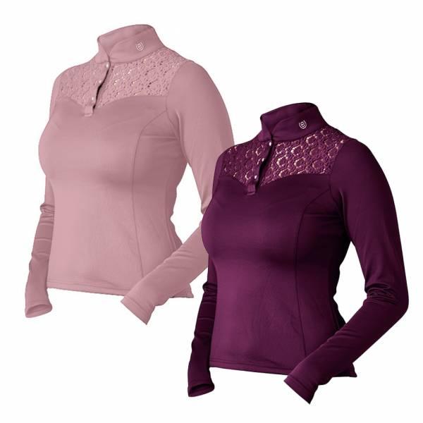 EQUESTRIAN STOCKHOLM 女用長袖衫 (2色可選/蕾絲花紋/XS/S)