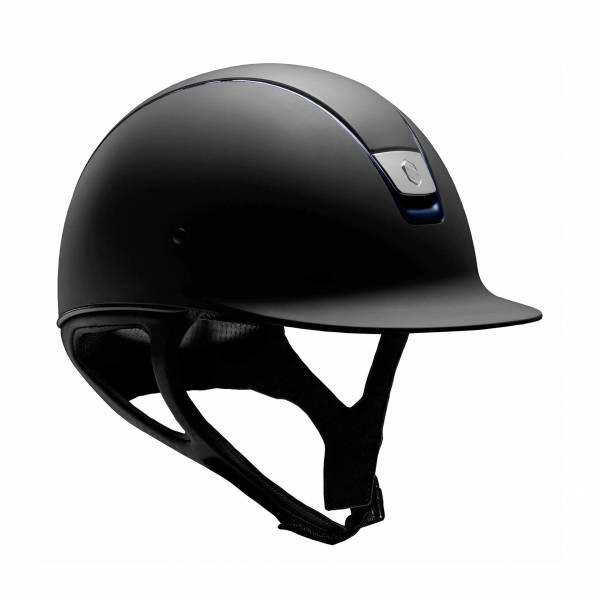 SAMSHIELD 訂製款騎士帽 (霧黑/深藍飾框/L) 不含帽襯,需另外加購