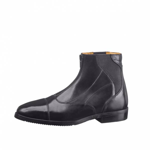EGO7 騎馬短筒皮靴 (鬆緊前拉鍊設計/黑色/37/38/39/43)