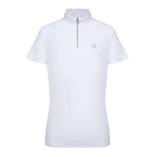 CAVALLERIA TOSCANA 女用比賽衫 (透氣快乾/白色/S/M/L)