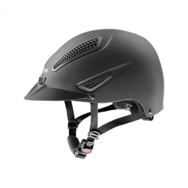 UVEX 透氣騎士帽 (蜂巢式透氣孔/黑色)