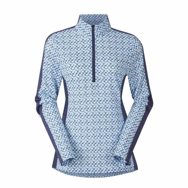KERRITS 女用長袖衫 (涼感快乾/抗UV/蹄鐵印花/S)