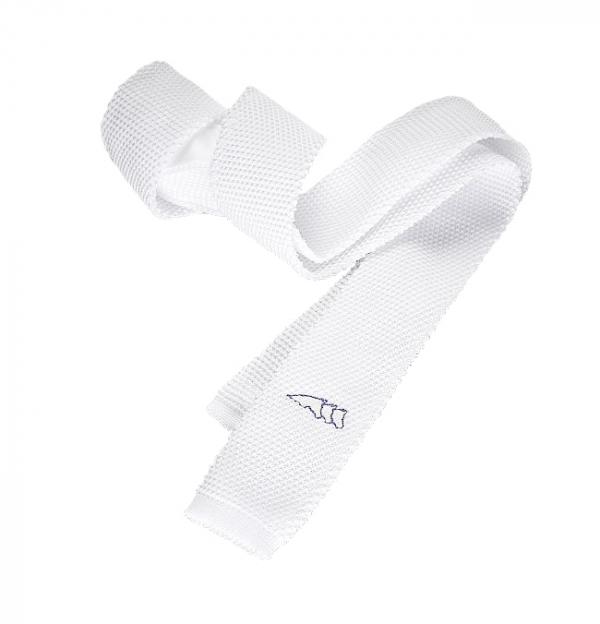 EQUILINE 比賽用白色領帶 (窄版)