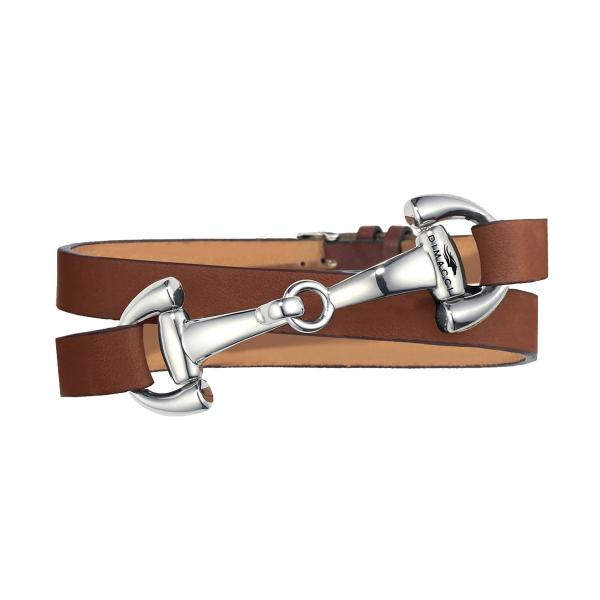 DIMACCI 皮革手環 (口銜造型/小牛皮/棕色)