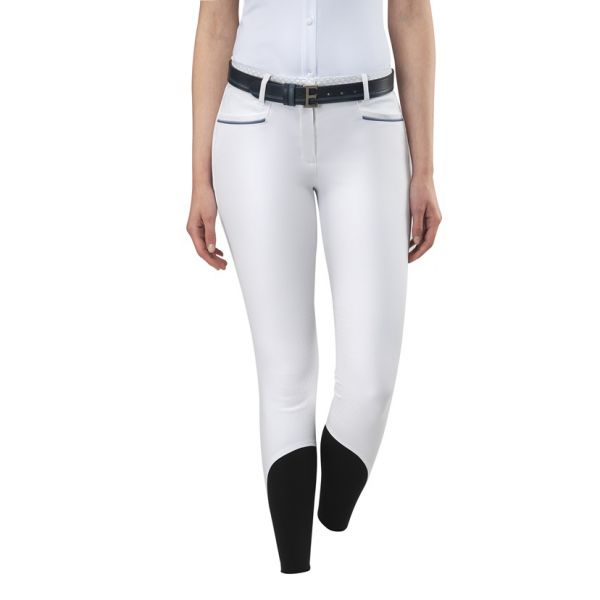 EQUILINE 女用馬褲 (止滑全皮/彈性縮口/白色)