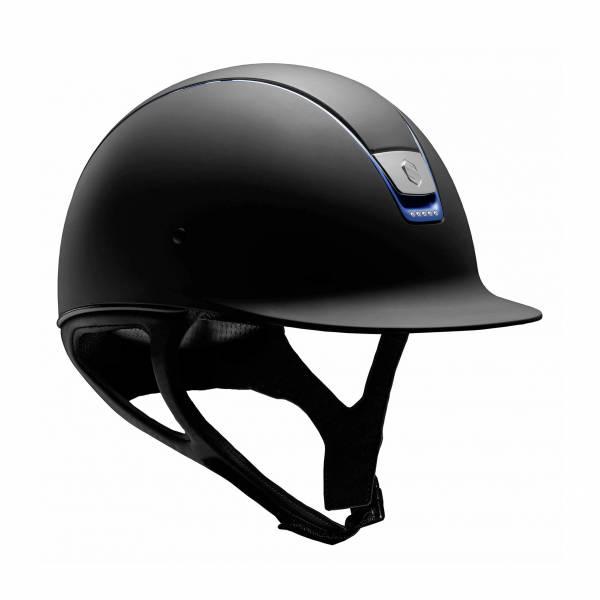 SAMSHIELD 訂製款騎士帽 (霧黑/藍色飾框/5鑽/S) 不含帽襯,需另外加購