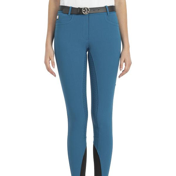 EQUILINE 女用馬褲 (快乾材質/止滑全皮/彈性縮口/珊瑚藍/24)