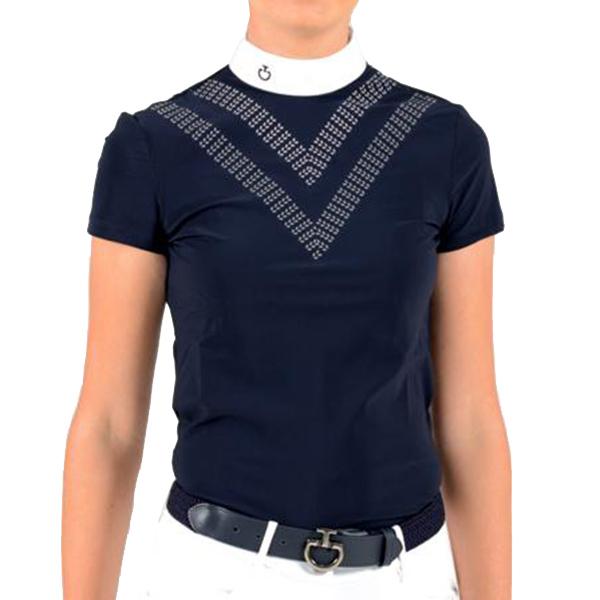 CAVALLERIA TOSCANA  女用比賽衫 (深藍色/內衣兩件式/附襯墊/S)