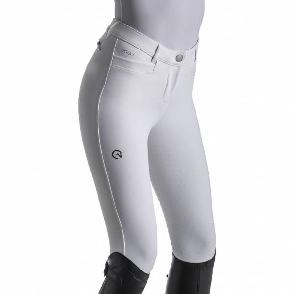 EGO7 女用馬褲 (止滑全皮/彈性縮口/白色/22)