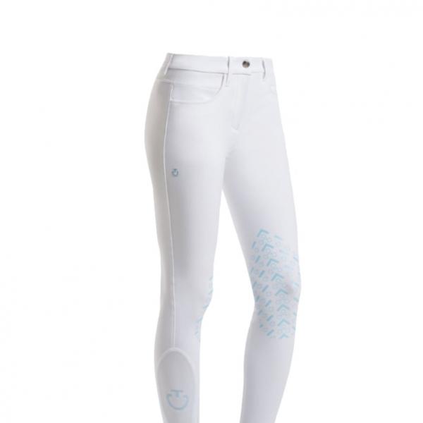 CAVALLERIA TOSCANA  女用馬褲 (止滑半皮/彈性縮口/白色)