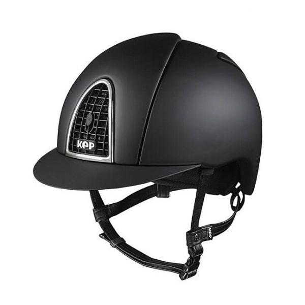 KEP 透氣騎士帽 (平光黑/銀框/L/59/60/61/62)