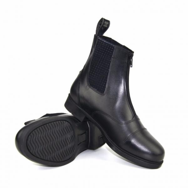 HyLand 拉鍊短筒皮靴 (成人/黑色)
