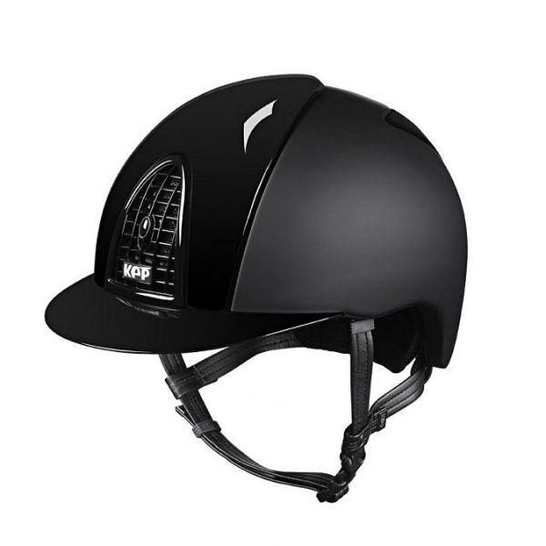 KEP 透氣騎士帽 (平光黑/亮面飾板/M/53/54/55/56/57/58)