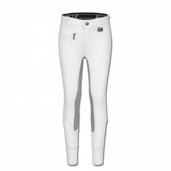 ELT 孩童馬褲 (止滑全皮/彈性縮口/白色)