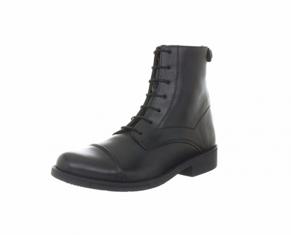 AIGLE 男女短筒皮靴 (鞋帶拉鍊設計/黑色)