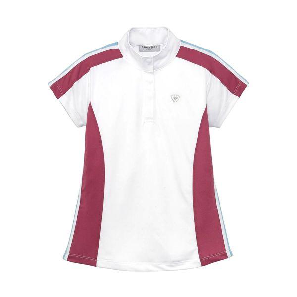 ARIAT 女用/女童用比賽衫(白色/紫藍線條)