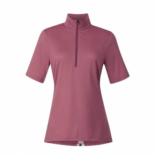 KERRITS 女用短袖衫 (涼感快乾/抗UV/紅木色/S/M)