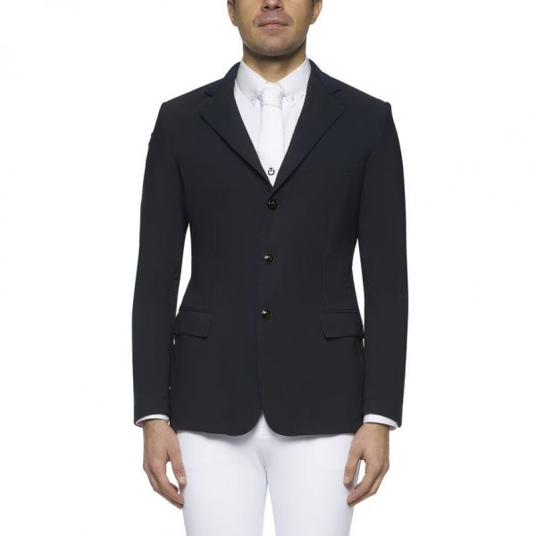 CAVALLERIA TOSCANA 男用比賽西裝外套 (黑色/透氣網眼設計/44/48/50)