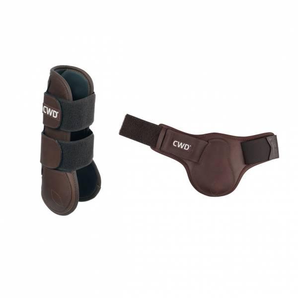 CWD 障礙護具 (皮革/深棕色/前後腿/FULL)