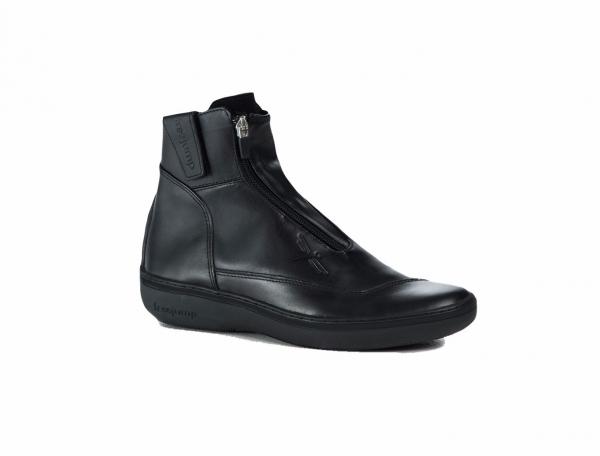 FREEJUMP 新型騎馬短筒皮靴 (黑色)