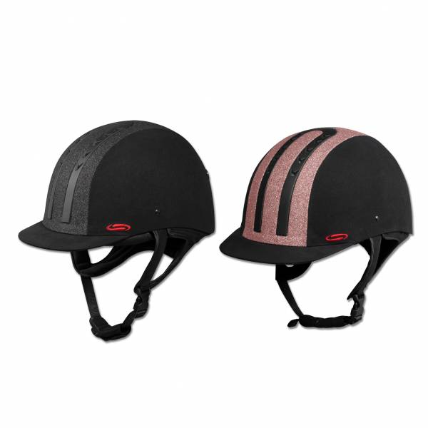 SWING 透氣騎士帽 (黑絨布/金蔥帽頂/2色可選/57/58)