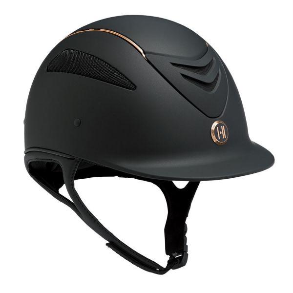 One K 透氣騎士帽 (黑色/玫瑰金條/L/XL/XXL)