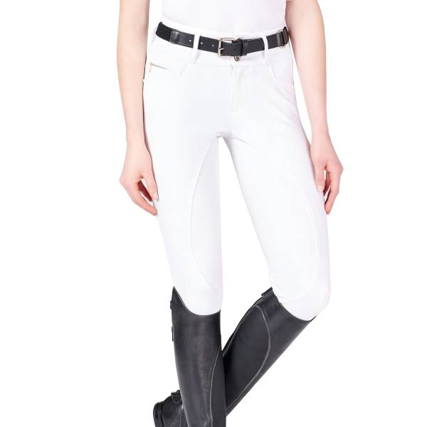 VESTRUM 女用馬褲 (止滑全皮/彈性縮口/白色/24/26/28)