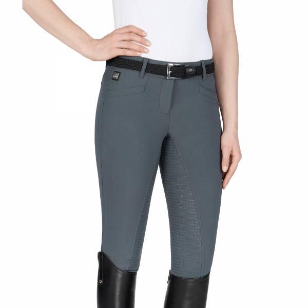 EQUILINE 女用馬褲 (止滑全皮/彈性縮口/灰色)