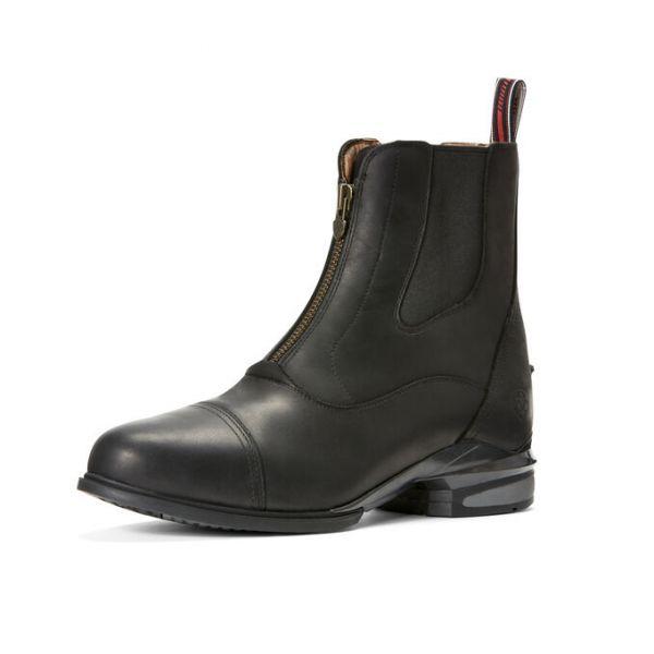 ARIAT 高級氣墊短筒皮靴 (第二代/鬆緊拉鍊設計/黑色/男版)