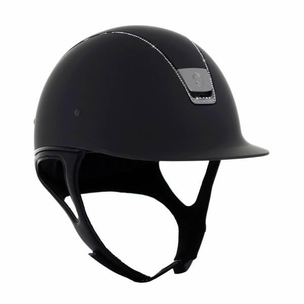 SAMSHIELD 基本款騎士帽 (霧黑/5鑽/鑲鑽飾框/M/贈背袋) 不含帽襯,需另外加購