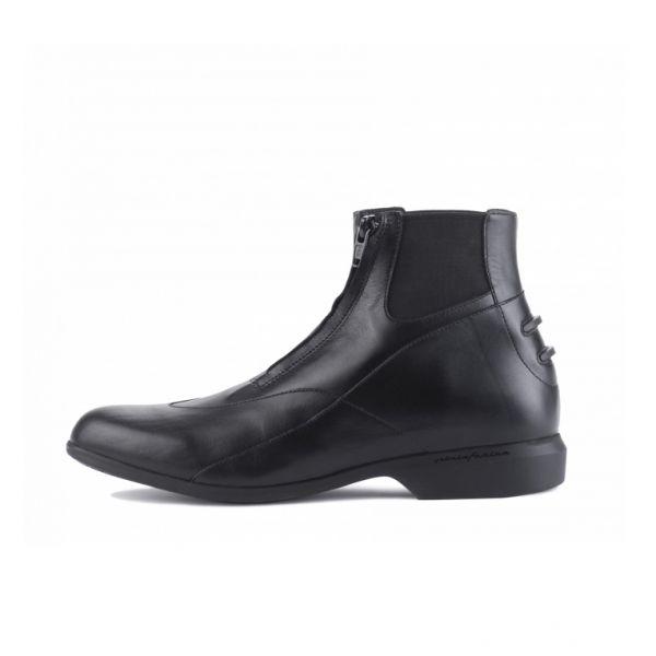 FREEJUMP 女款騎馬短筒皮靴 (前拉鍊設計/37/39)