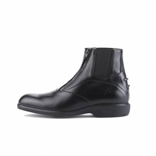 FREEJUMP 男款騎馬短筒皮靴 (可搭配FJ-RL03綁腿/前拉鍊設計/40/43)
