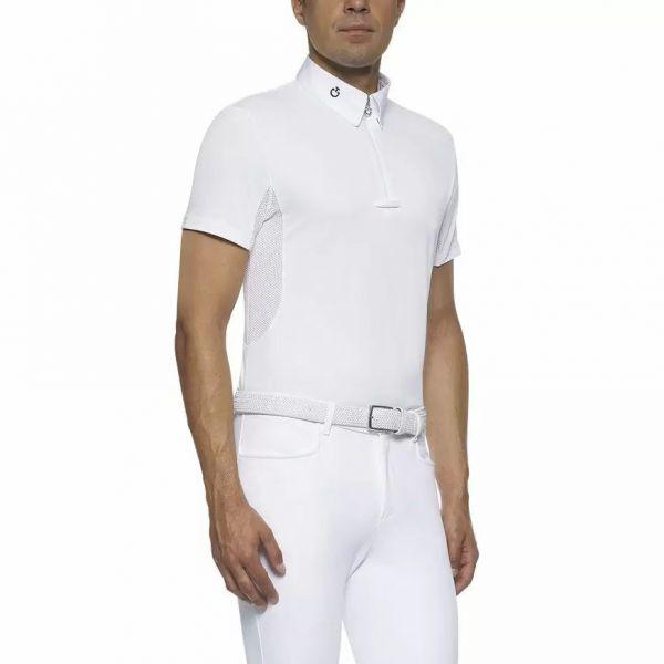 CAVALLERIA TOSCANA 男用比賽衫 (白色/L)