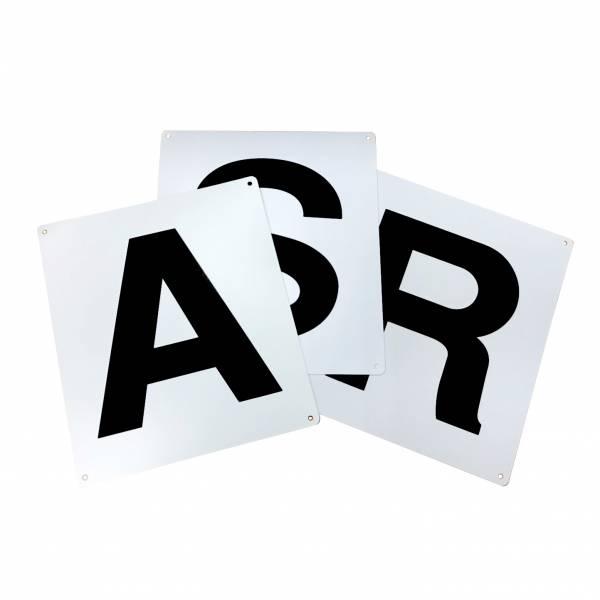 馬場馬術用字母標示掛牌 (12字)
