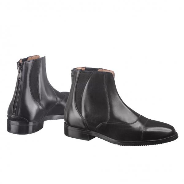 EGO7 騎馬短筒皮靴 (鬆緊後拉鍊設計/黑色/36-43)