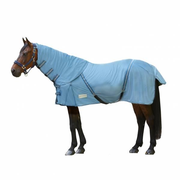 防蟲馬衣+護頸 (粉藍色/145cm/155cm)
