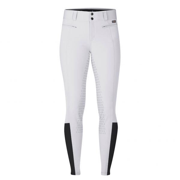 KERRITS 女用馬褲 (降溫抗UV/止滑全皮/彈性縮口/白色/S/M)