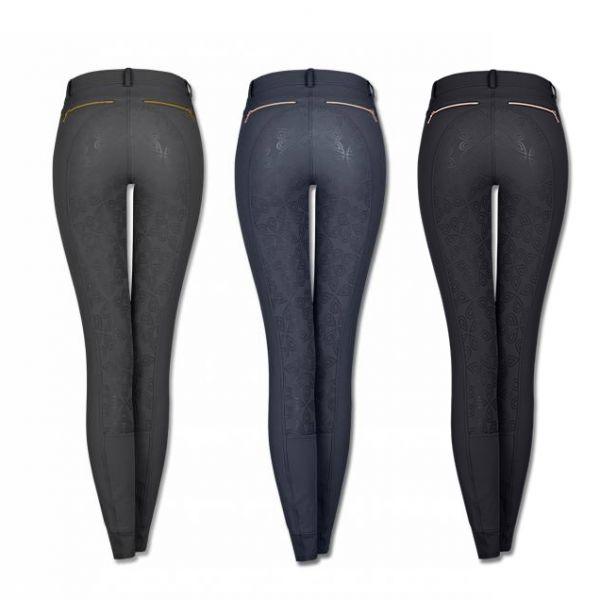 ELT 女用馬褲 (花紋止滑全皮/彈性縮口/2色可選)