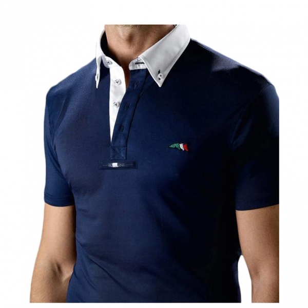 EQUILINE 男用比賽衫 (藍色/M)