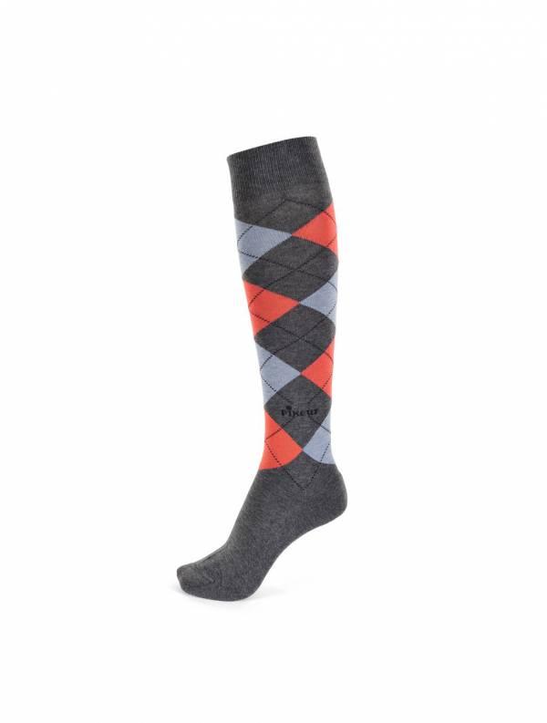 PIKEUR 騎馬長筒襪 (格紋圖樣/4色可選)