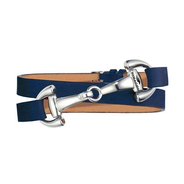 DIMACCI 皮革手環 (口銜造型/小牛皮/深藍色)