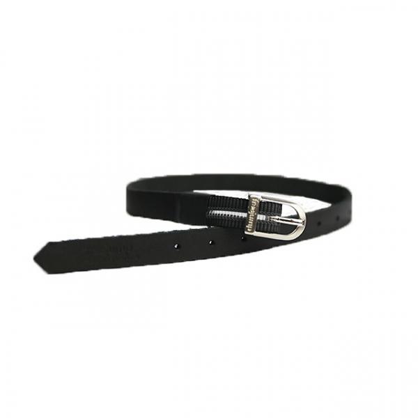FREEJUMP 皮製馬刺帶 (黑色/鬆緊帶設計)