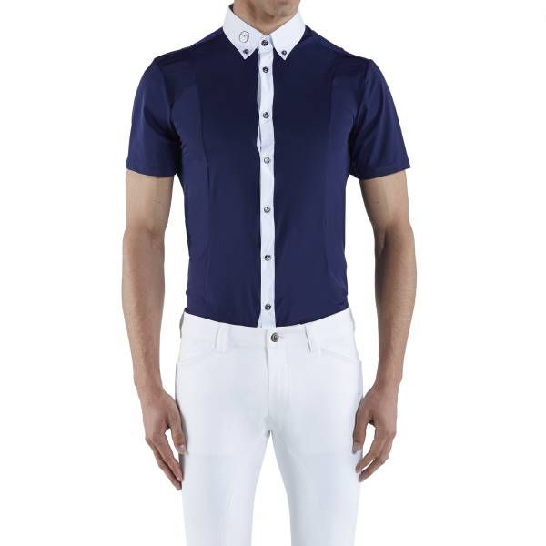 VESTRUM 男用比賽衫 (藍色/S)